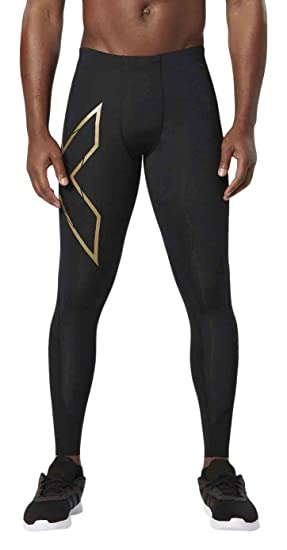 05726cfd33417 Amazon.com: 2XU Men's MCS Thermal Compression Tights, Black/Gold ...