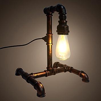 Shdt Retro Loft Industrial Water Pipe Tisch Lampe Persönlichkeit