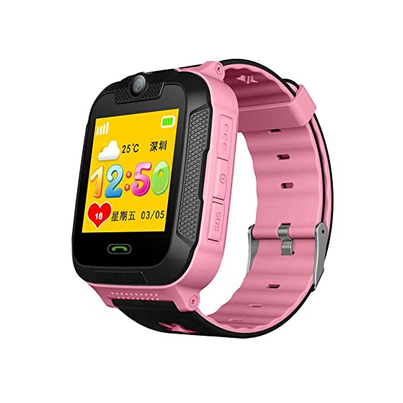 Bulary Children Smartwatch Phone with GPS 3G Smart Touch Screen Card Insertion Call Watch Pulsera Pulsera para Niñas Niños