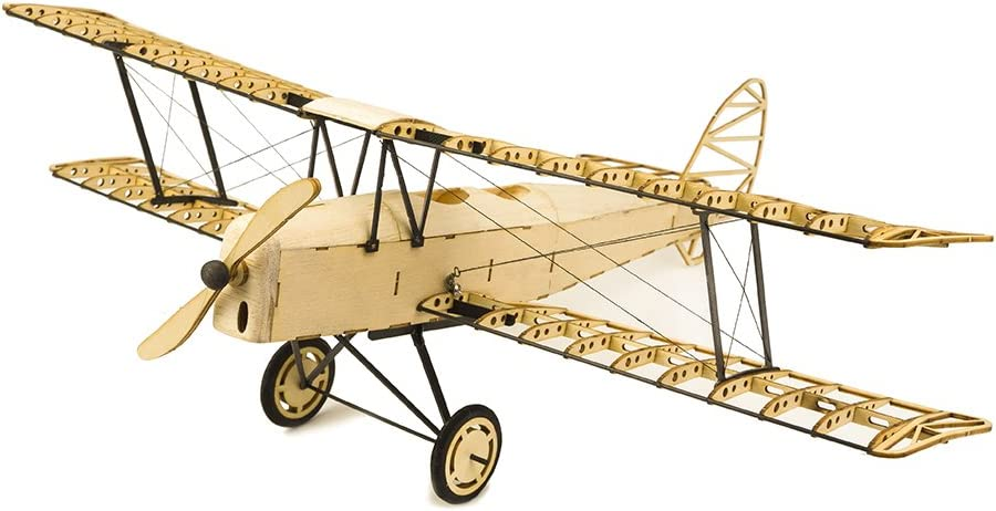 Viloga 3D Puzzles for Adults DIY Tiger Moth Bi-Plane Wooden Models, Laser Cut Balsa Wood Airplane Kits to Build, Perfect Woodcraft Construction Set Aircraft Model Kit for Home Decor Collection