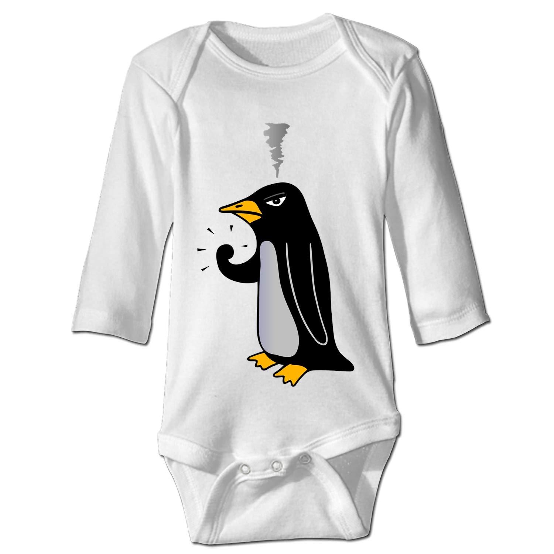 Penguin Wear Hat Baby Bodysuit Infant Unisex Long Sleeve Bodysuit