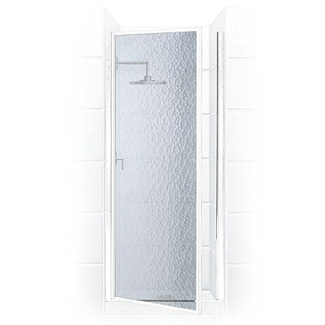 legend series 24 in x 64 in framed hinged shower door in platinum with