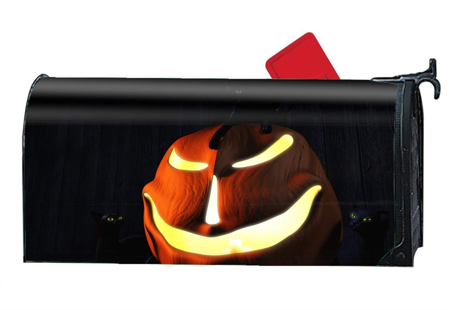 BYUII Mailbox Cover Outdoor Decoration, Halloween Cartoon Pumpkin Lamp, Rust-Proof Magnetic Mail Box Covers