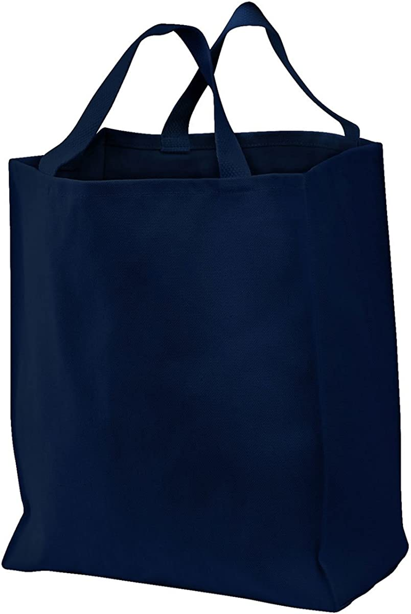 Port & Company Durable Grocery Shoulder Twill Tote Bag