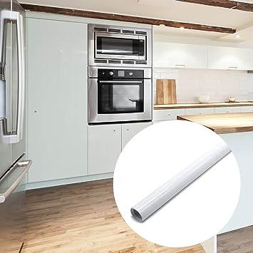 Reelva White Gloss Self Adhesive Plastic Kitchen Wallpaper Cupboard