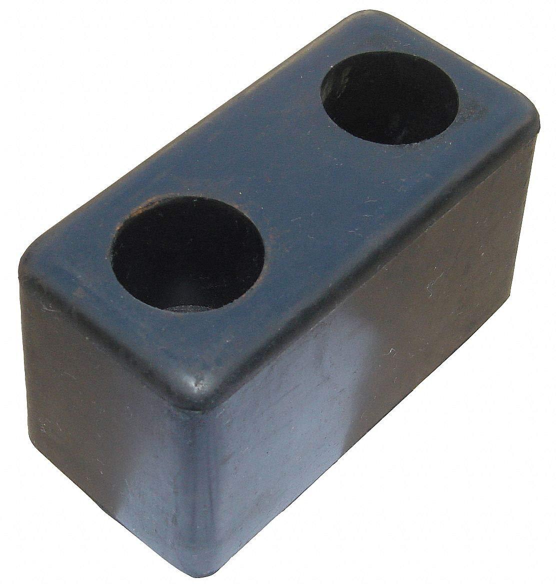 Rectangular Rubber Dock Bumper, 6''H x 3-1/2''W x 3-1/2''D pack of 5
