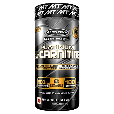 Muscletech Essential Series Platinum 100% L-Carnitine - 180 Caps Amino Acids at amazon