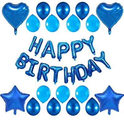 instom Happy Birthday Latex Balloon Set Party Decorations Supplies Balloons: Home & Kitchen