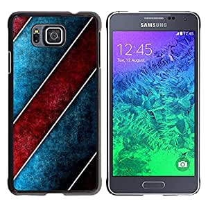 Stuss Case / Funda Carcasa protectora - Stripes Design Wall Art Red Blue Wallpaper - Samsung GALAXY ALPHA G850