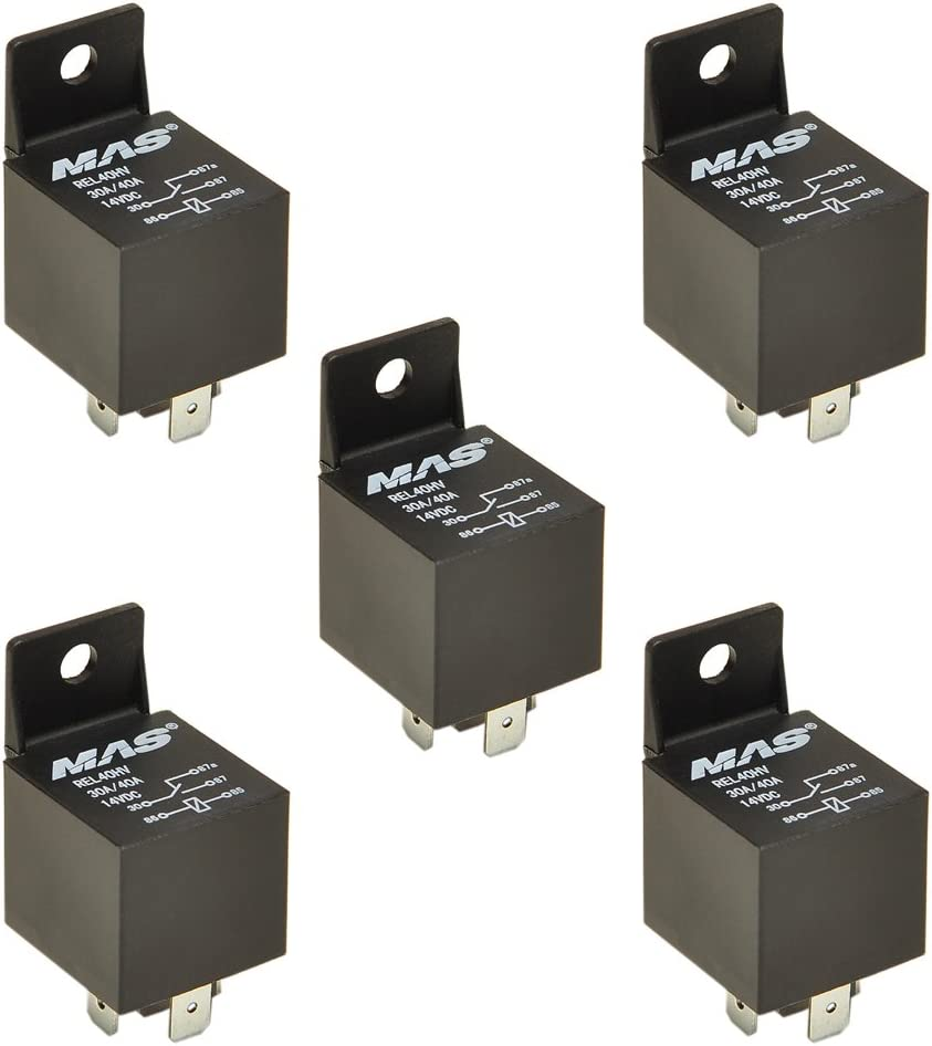 5 PIN RELAY 30A//50A Pack of 5