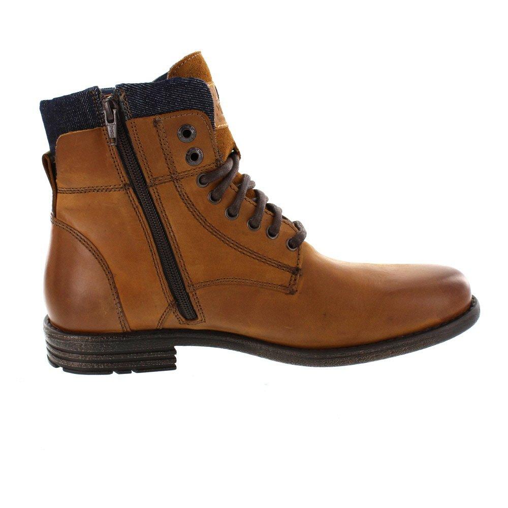 Levis Zapatos de Cuero Levis Para Hombre, Botines con Cuello Emerson, Botas, insercion de Jean: Amazon.es: Zapatos y complementos