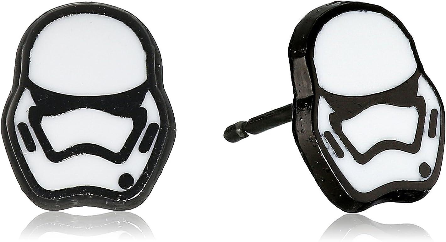Star Wars Jewelry Unisex Episode 7 Stormtrooper Stainless Steel Stud Earrings