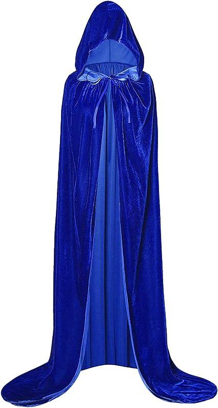 per Halloween mantello in velluto GAOU mantello con cappuccio unisex per adulti cosplay Viola