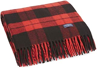 product image for Faribault Bison Check Throw Red-Black