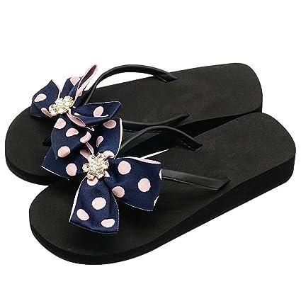 Sandali Infradito Slip-On Per Donna Bambina Casual Confortevole Clip Toe  Piatto   Medio   da67cf954fd