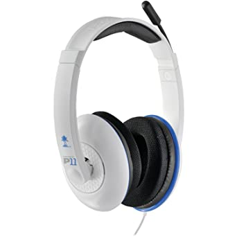 d590f7aa591 Amazon.com: Turtle Beach - Ear Force P11 Amplified Stereo Gaming Headset -  PS3 - White: Computers & Accessories