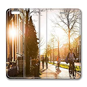 iPhone 6 Case, iPhone 6 Leather Case, Fashion Protective PU Leather Slim Flip Case [Stand Feature] Cover for New Apple iPhone 6(4.7 inch) - Spring Utrecht
