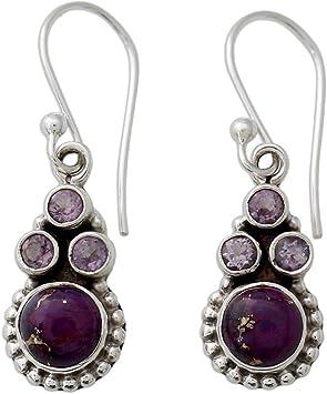 Natural Stone Pendant Earrings for Women Girls