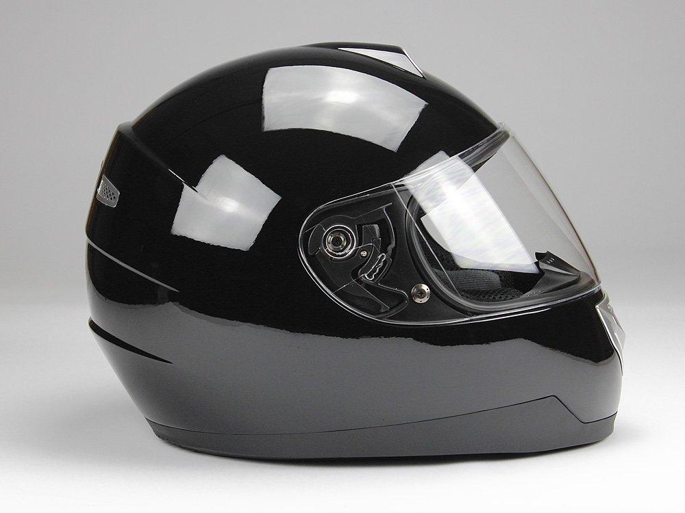 BNO Integralhelm Motorradhelm Helm F500 erschiedene Farben L, Schwarz gl/änzend XS,S,M,L,XL,XXL
