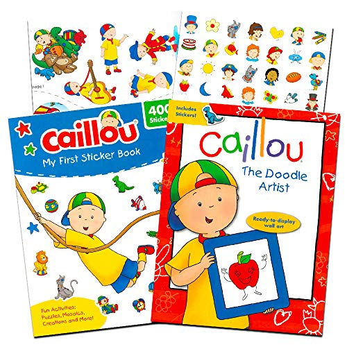 Caillou Party Supplies Caillou Activity and Stickers Book Set for Toddlers Kids -- 2 Caillou Books Filled with over 400 Caillou Stickers and Games (Activity Super -