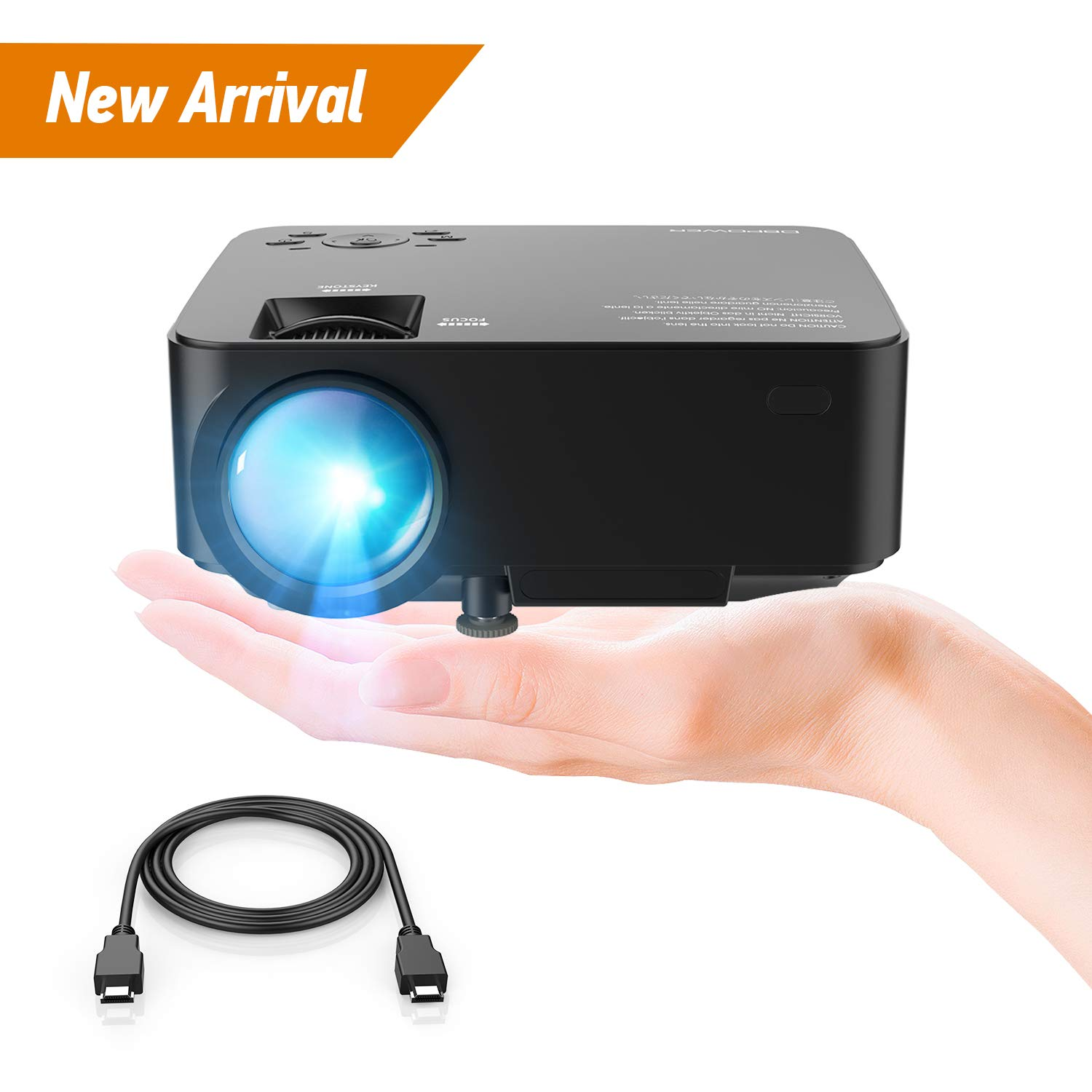 DBPOWER Mini proyector, 2200 Lumen Proyector LED de Video HD...