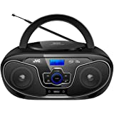 JVC Portable Bluetooth CD Player Boombox/USB/MP3/FM Radio/LCD Display 2X 4W Speaker