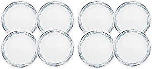 """Corelle Livingware Ocean Blues 10.25"""" Dinner Plate (Set of 8)"""