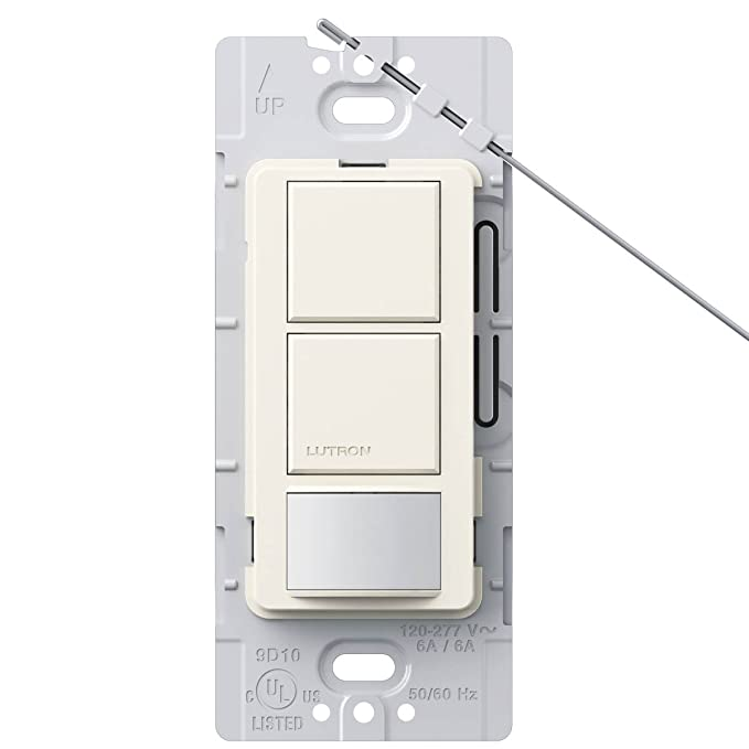 Lutron MS-OPS6-DDV-BI Maestro 6-Amp Single Pole Dual Circuit Occupancy Sensing Switch, Biscuit - Motion Activated Wall Switches - Amazon.com