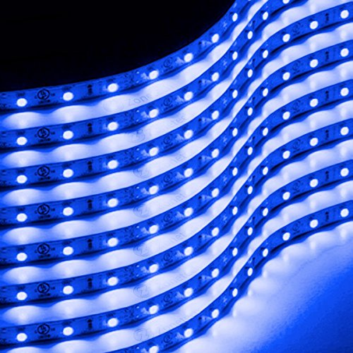 Zone Tech 30cm Flexible Waterproof Blue Light Strips - 8-Pack LED Car Flexible Waterproof Blue Light Strips (Led Strips For Cars compare prices)