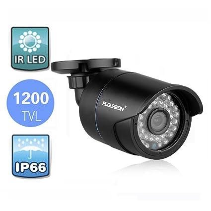 FLOUREON® Cámara Bala de Vigilancia CCTV DVR Seguridad Hogar - IR-CUT Visión Nocturna