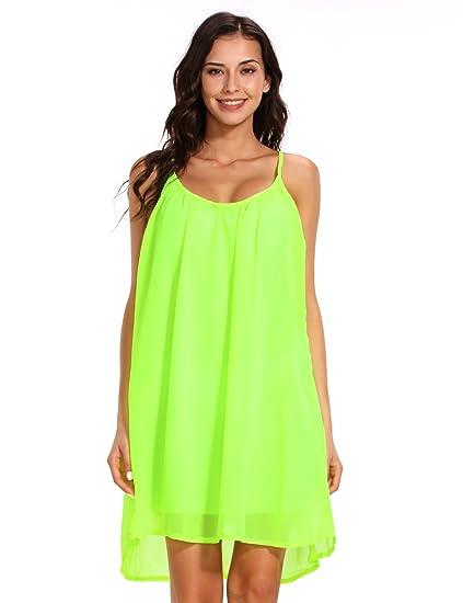 ISASSY Women Summer Dresses Spaghetti Strap Sundress Sleeveless Beach  Floral Print Tank Dress  Amazon.co.uk  Clothing d88591c1e838