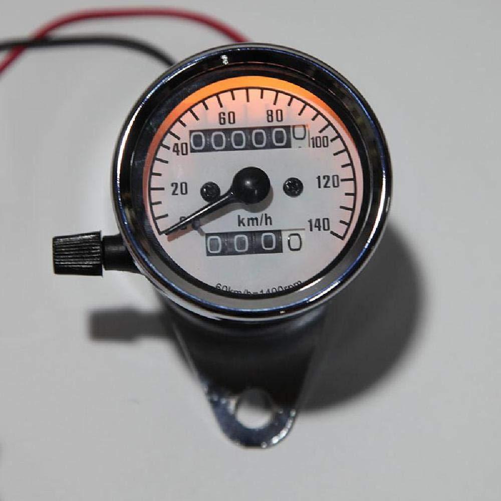 INNOGLOW Motorcycle Dual Speedometer Tachometer Fuel Gauge Odometer Universal LED Backlight for ATV Honda Yamaha Suzuki Harley Kawasaki Suzuki