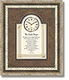 The Lord's Prayer - Matthew 6:9-13 - Framed Wall Clock, 15'' W x 18'' H.