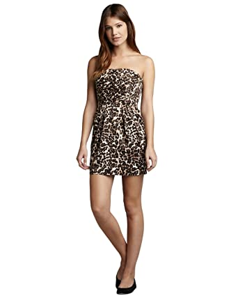 Image Unavailable. Image not available for. Color  Naven Leopard-Print  Strapless Dress 790ef5f1e