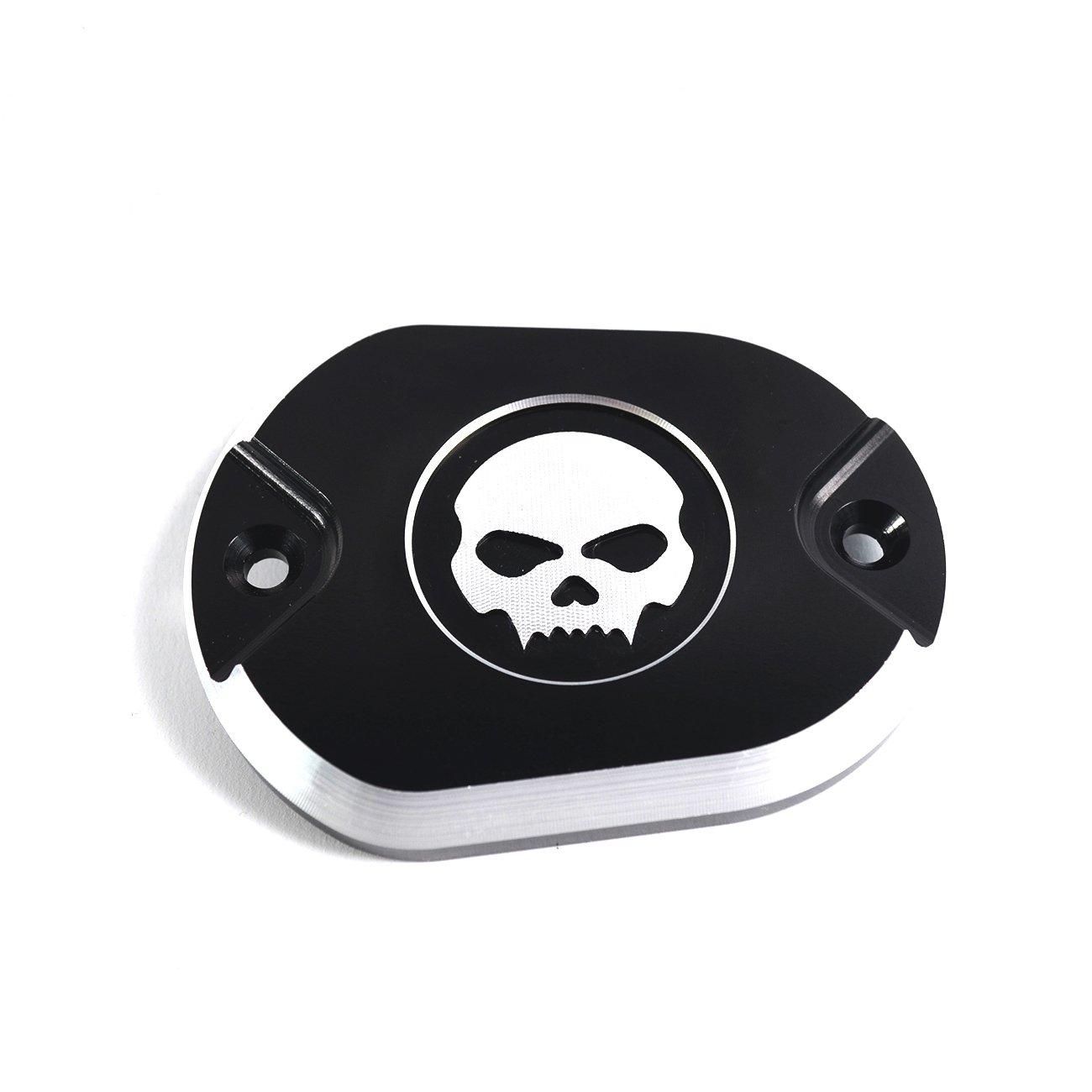 Bremszylinderabdeckung Skull black fü r Harley Davidson Sportster XL und Iron Modelle No Name