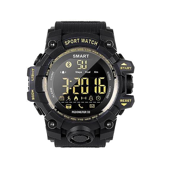 HD Pantalla Impermeable Reloj Inteligente Hombre Sport Fitness Tracker Smartwatch Con Pulsómetro Cronómetro Podómetro Calendario Bluetooth Compatible ...