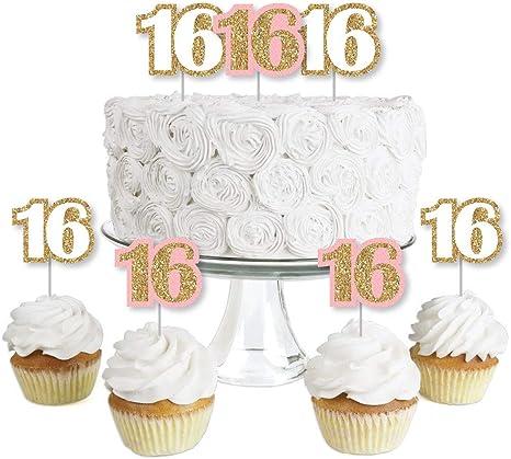 Party Supplies DESSERT CAKE PLATES Age 16 Happy 16th Birthday