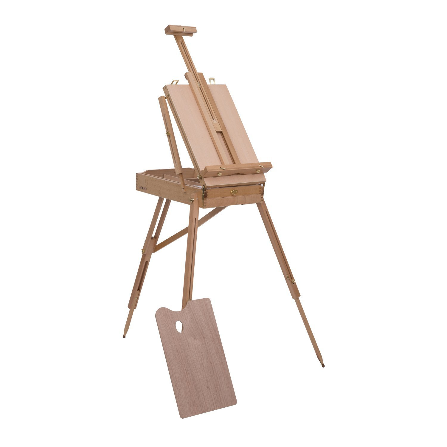 HOMCOM Folding Wood French Artists Standing Easel Set Portable Art Painters Tripod Sketch Craft Wood Aosom Canada
