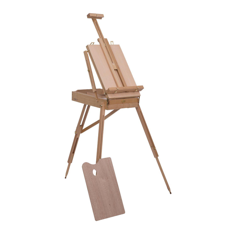 HOMCOM Folding Wood French Artists Standing Easel Set Portable Art Painters Tripod Sketch Craft Wood Aosom Canada