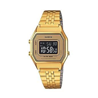 b3b30f97de0 Relógio Feminino Digital Casio Vintage LA680WGA-9BDF - Dourado ...