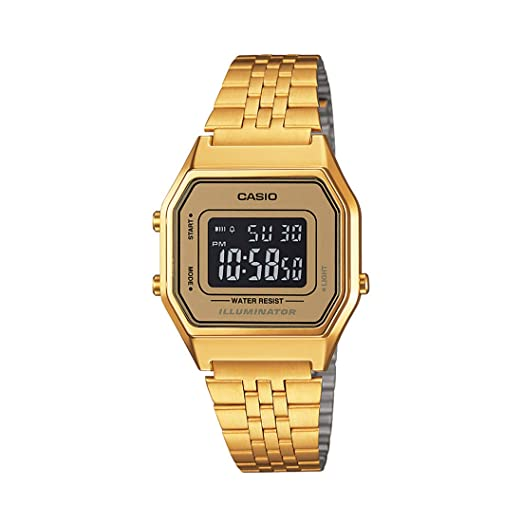Amazon.com: Casio LA-680WGA-9B - Reloj con mecanismo de ...