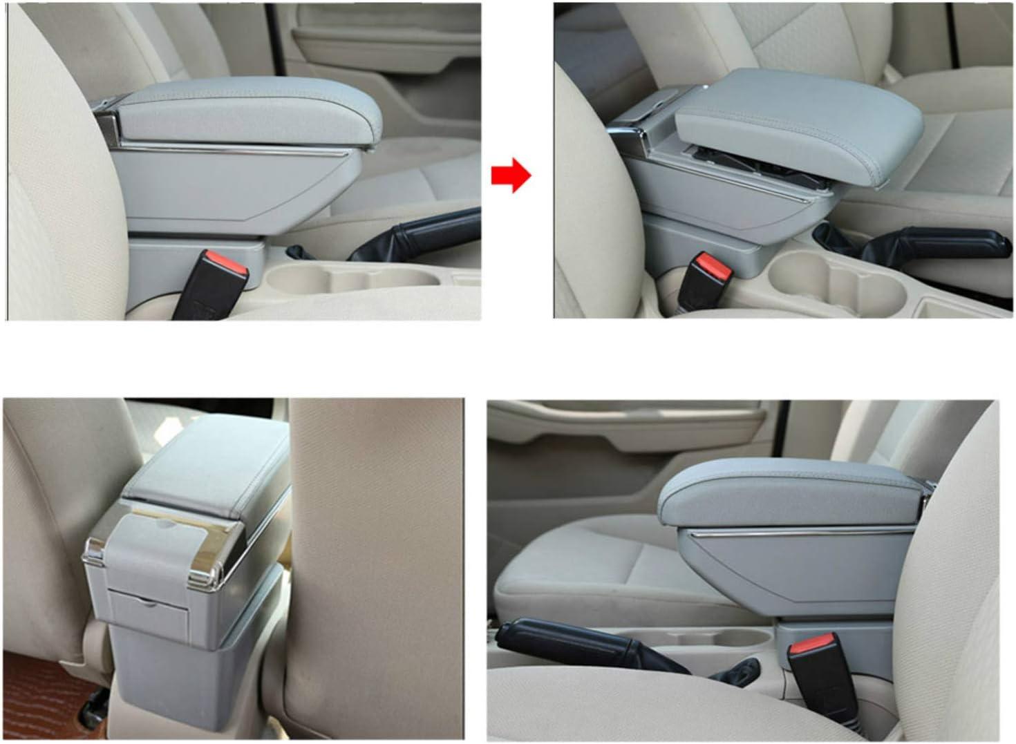 F/ür S uzuki SX4 Luxus Auto Armlehne Mittelarmlehne mittelkonsole Zubeh/ör Eingebaute LED-Licht Schwarz