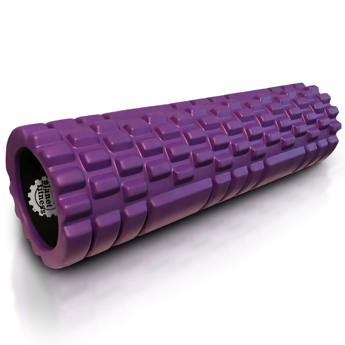 Planet Fitness Muscle Massager Foam Roller for Deep Tissue Massage, Back, Trigger Point Therapy, Purple 18''