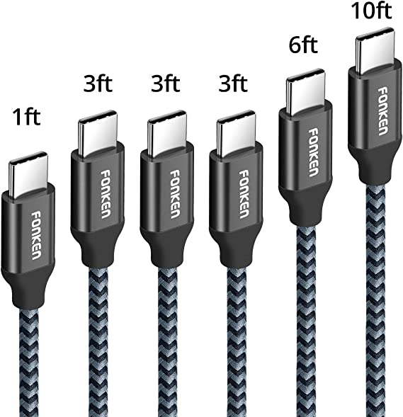 5x 1ft USB-C Type C to USB Type A Cable Charging Cord Smartphone Laptop MacBook