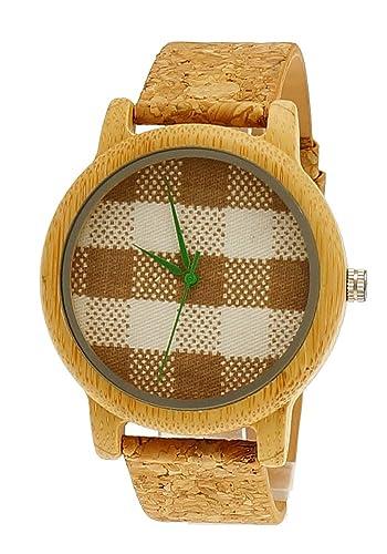 Henny pequeño diseñador mujer Certificado Vegano) Madera Natural Reloj de pulsera reloj con esfera