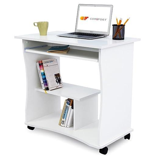 Mobili Porta Computer Prezzo.Comifort T03 Scrivania Per Pc 80 X 50 X 75 Cm Amazon It Casa