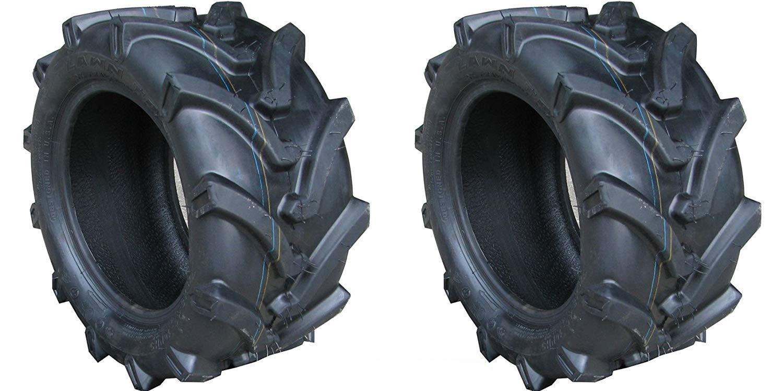 TWO 18X8.50-8 18X850-8 OTR Lawn Trac Bar Lug Tires 4 ply Rated Heavy Duty by OTR LAWN TRAC (Image #1)