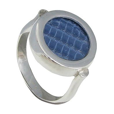 Schmuck Les Poulettes Runder Silber Ring Auswechselbare Leder ...