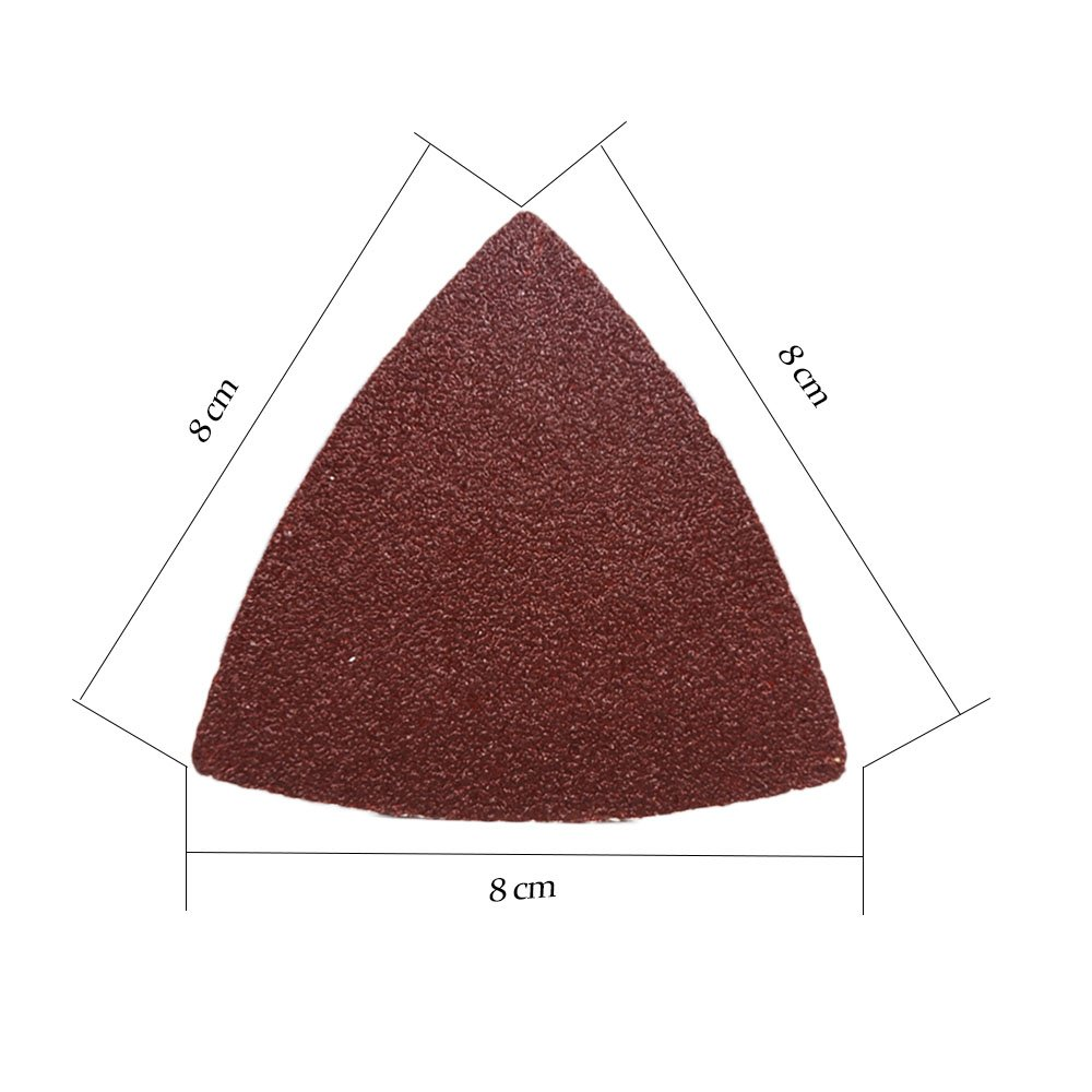 OxoxO 80mm Triangular Sanding Pad Abrasive Sandpaper No Hole 40 60 80 120 180 240 Grits Aluminum Oxide Hook /& Loop Sanding Sheets 60-Pack