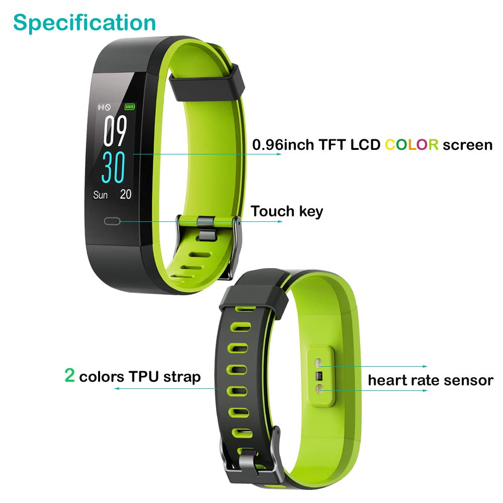 Willful Fitness Tracker with Heart Rate Monitor, Activity Tracker (14 Modes) Pedometer with Step Counter Sleep Monitor,Color Screen IP68 Waterproof,Fitness Watch for Women Men Kids (with Extra Band)
